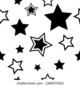 stars seamless geometric abstract pattern