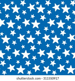 Stars seamless pattern. Celebration vector pattern.