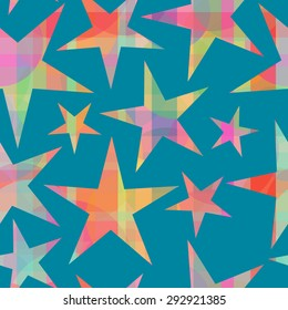 Stars seamless vector pattern