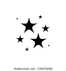 Stars sparkle icon flat vector illustration