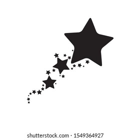 Stars. Star Design. tattoos. Black icon.