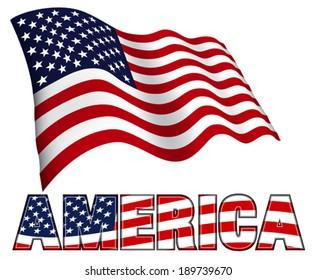 Stars and Stripes Flag Patriotic AMERICA