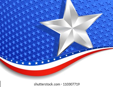 Stars and Stripes Silver Star background