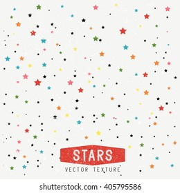 Stars Texture Background. Vector Illustration.