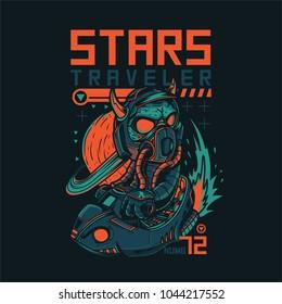 Stars Traveler Illustration