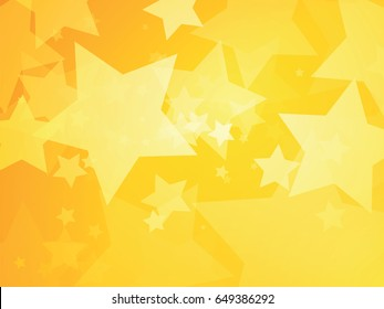 stars yellow background