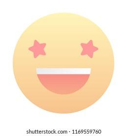 Star-Struck Smiling Smile Emoticon Emoji Sign Face
