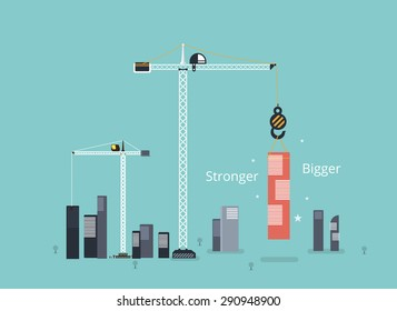 Start up business building concept.