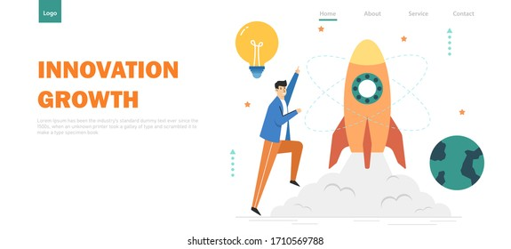 Start up business for creativity and innovation,Creative concept,Learning to build skill,infographic,Website banner vector illustration landing page