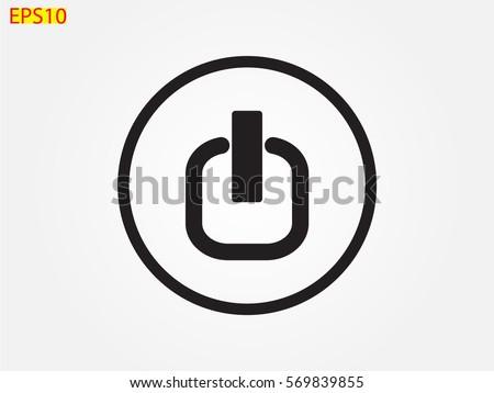 Start Button Icon Vector Illustration Eps 10 Stock Vector (Royalty