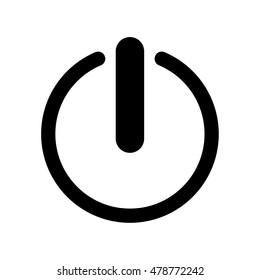 Start icon , power button ,vector illustration