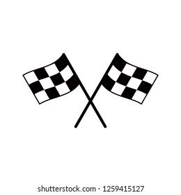 Start icon. Race flag icon. Competition sport flag line vector icon