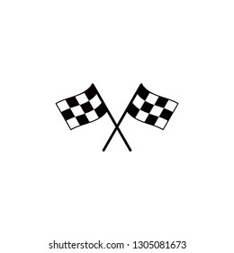 Start icon. Race flag icon. Competition sport flag line vector icon. Racing flag. Start finish flag