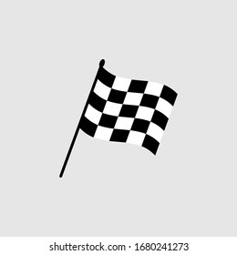 Start icon. Race flag icon. Competition sport flag line vector icon. Racing flag. Start finish. vector illustration