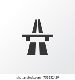 Start Of Motorway Icon Symbol. Premium Quality Isolated Freeway Element In Trendy Style.