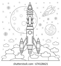 Space Coloring Pages Images, Stock Photos & Vectors ...