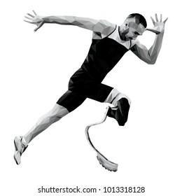 start runner disabled runner amputee leg prosthetic