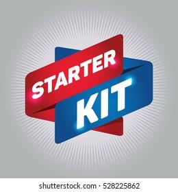 STARTER KIT arrow tag sign.
