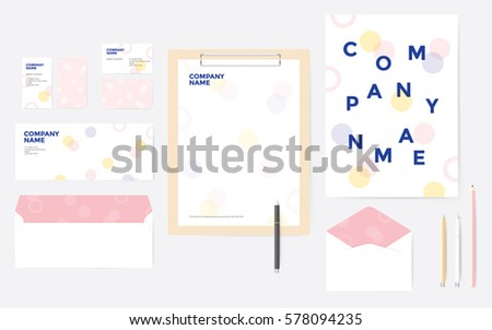 starter kit corporate stationary business stock vector royalty free