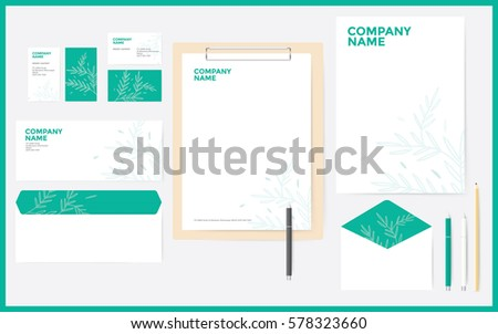 starter kit corporate stationary business that stock vector royalty