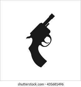 Starting pistol sign simple icon on background