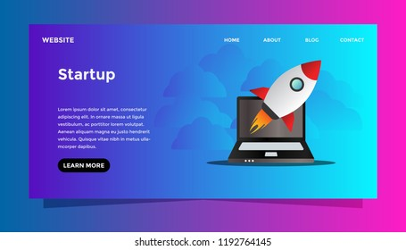 Startup business concept. Ready to use vector illustration. Suitable for background, wallpaper,