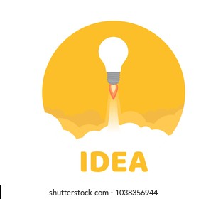 Startup. Conceptual illustration. The concept of startup for business, marketing, management and other activities. Vector design element. Outline
