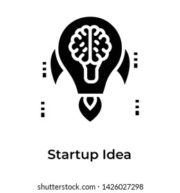 Startup idea isolated on white background