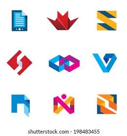 Startup innovation business innovation icon set next logo generation digital