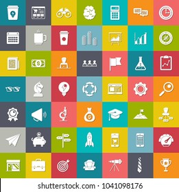 startup new business icons set, marketing icons, management strategy icons, office icons