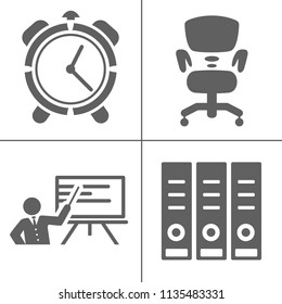 startup new business icons set, marketing, management strategy icons, office icons