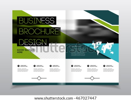 startup presentation layout or business flyer annual report vector design