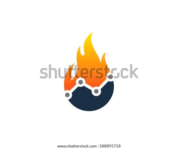 Stat Fire Logo Design Element