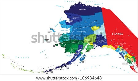 State Alaska Map Stock Vector Royalty Free 106934648 Shutterstock