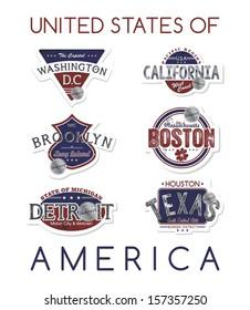state of america label set