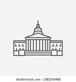 State capitol icon line symbol. Isolated vector illustration of  icon sign concept for your web site mobile app logo UI design.