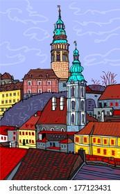 State castle Cesky Krumlov - Czech Republic
