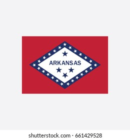 State Flag of Arkansas - United States Vector Illustration
