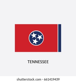 State Flag of Tennessee - United States Vector Illustration