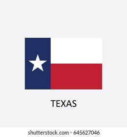 State Flag of Texas - United States Vector Illustration