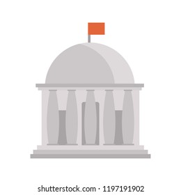 State goverment building color icon. Flat design