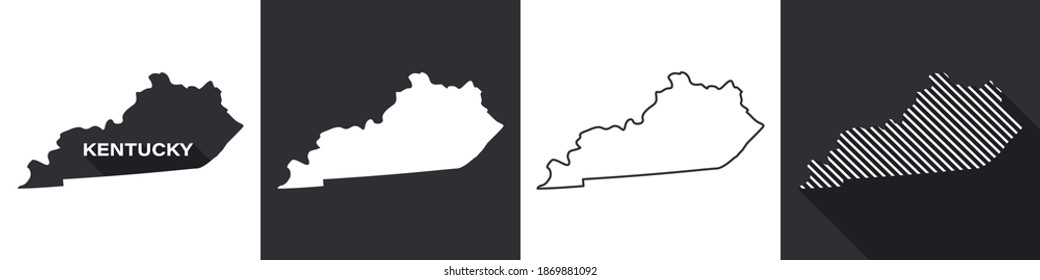 State of Kentucky. Map of Kentucky. United States of America Kentucky. State maps. Vector illustration