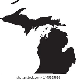 state map of Michigan in the united states