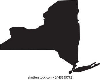 state map of New York In United States