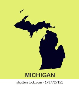 State of Michigan MAP America USA High Detailed Vector Illustration