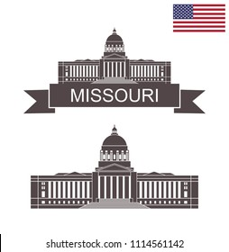 State of Missouri. Missouri State Capitol building in Jefferson City Missouri. EPS 10. Vector illustration