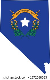 State of Nevada. Celebration for Nevada. Blue for Nevada. Celebration. Vector Banner and Greeting card of Nevada day