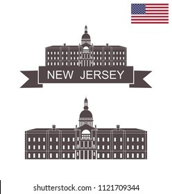 State of New Jersey. New Jersey state capitol building in Trenton