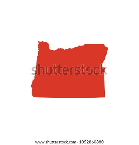 Or State Map.State Oregon Vector Map Silhouette State Stock Vector Royalty Free