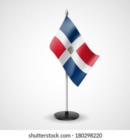State table flag of Dominican Republic. National symbol